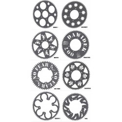 Steel sprocket 50 to 60 teeth