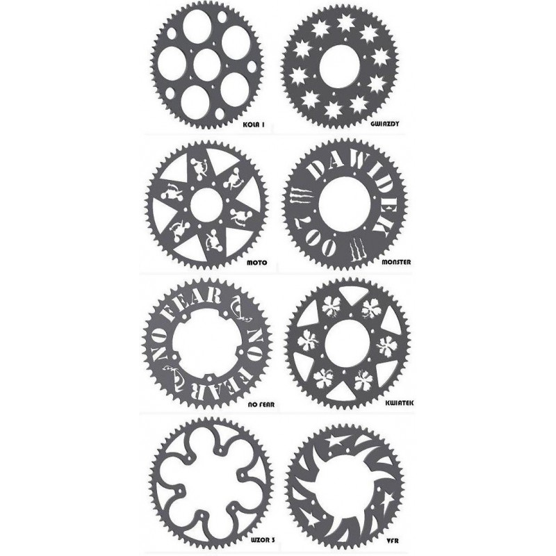 Steel sprocket 60 to 70 teeth