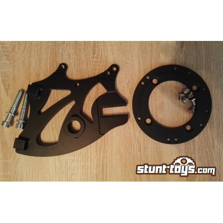 Bracket HB 1x Radial Calipers + 1x stock caliper with adapter for 298mm