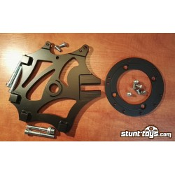 Bracket HB 2x Radial Calipers + 1x fb caliper with adapter for 298mm