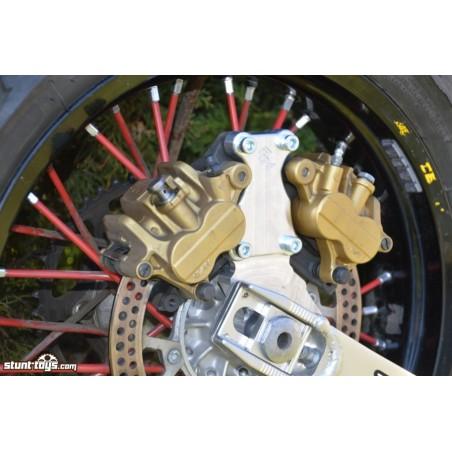 Mocowanie HB ALU 2x Zaciski hamulcowe Nissin do Suzuki DR-Z 400 2000-2008
